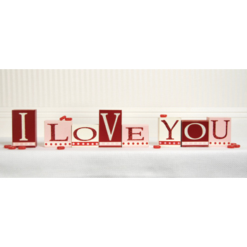 I Love You Mulit Wooden Block Set