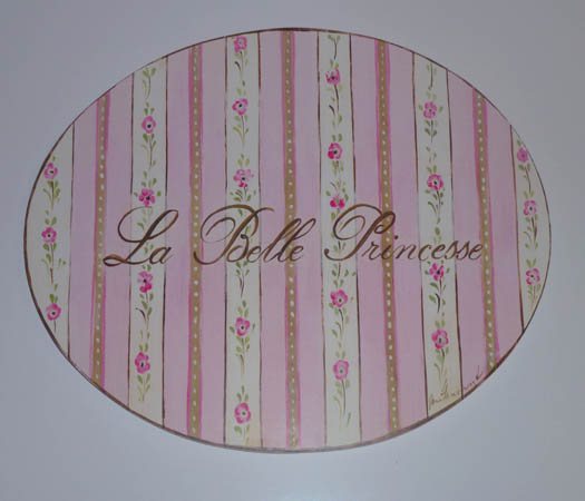 La Belle Princess Girly Wall Plaque