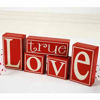 True Love Wooden Block Letters