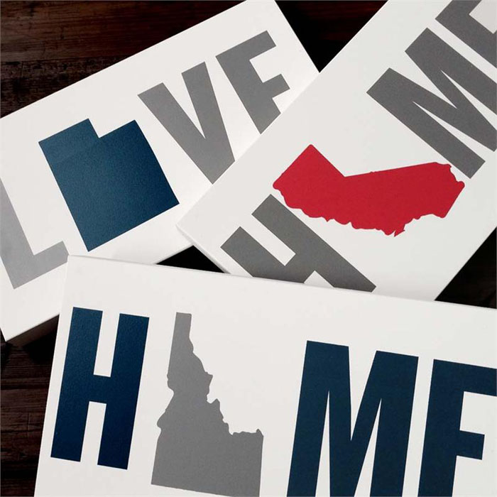 Home Love State Wall Art