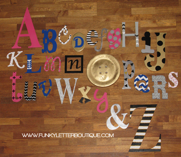 Custom Painted Alphabet Wall Letter Set