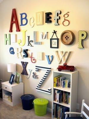 painted alphabet set
