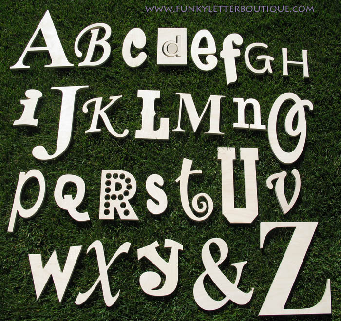 Alphabet Wooden Letters Unfinished