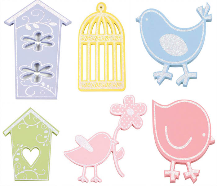 Birdie Sparkle Shapes
