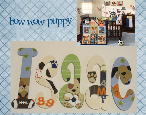 Bow Wow Buddies Painted Wall Letters