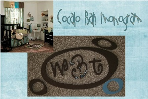 Bali Tropical Circles and Monogram Wall Decor Set