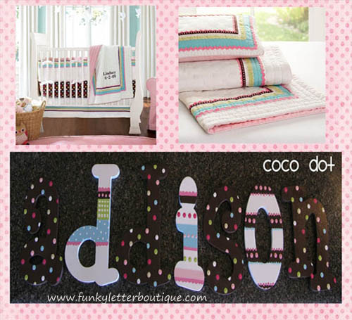 Coco Dot Hand Painted Wall Letters