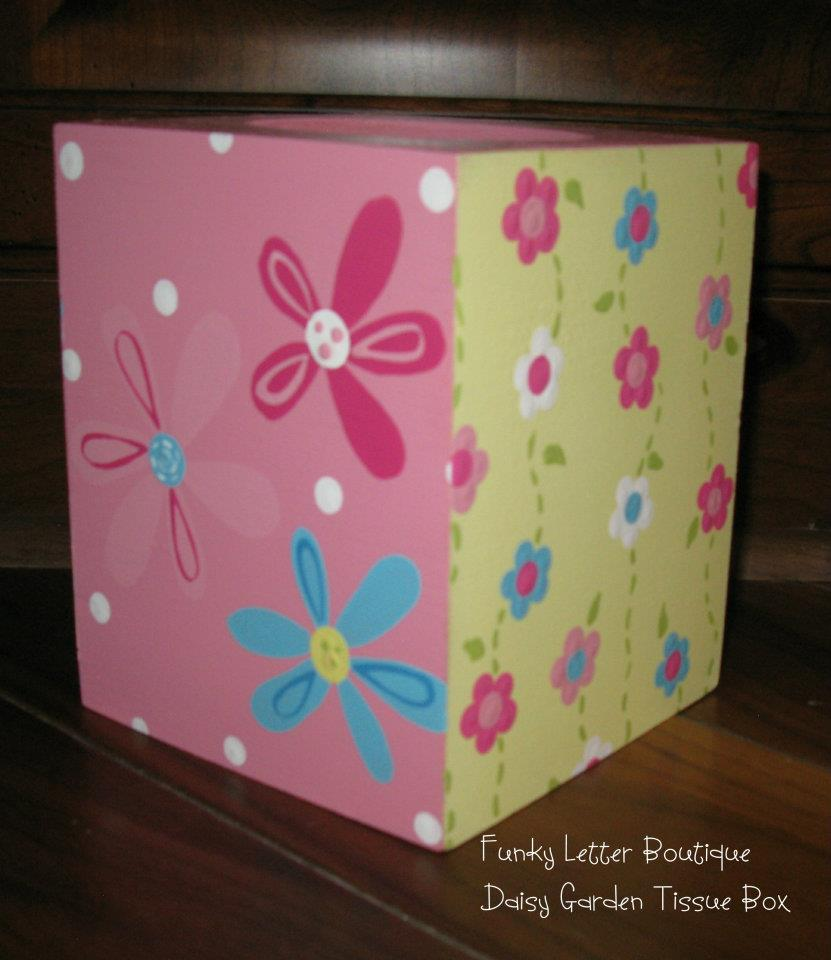 Daisy Garden Party Pink Tissue Box