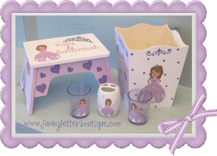 Princess Sofia The First Step Stool Bathroom Accessories Line