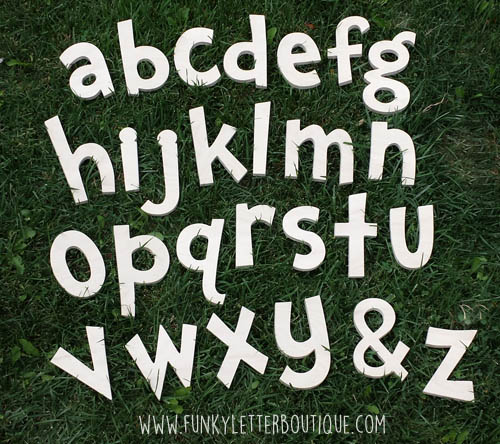 Dr. Seuss Unfinished Wooden Alphabet Letter Set