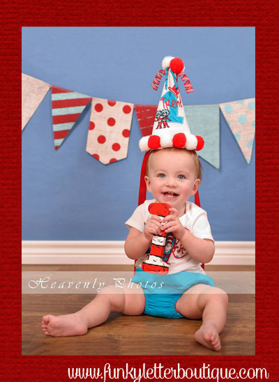 Cat in the Hat Striped Birthday Party Number