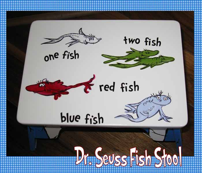 Dr Seuss Children S Bathroom Step Stool One Fish Two Fish