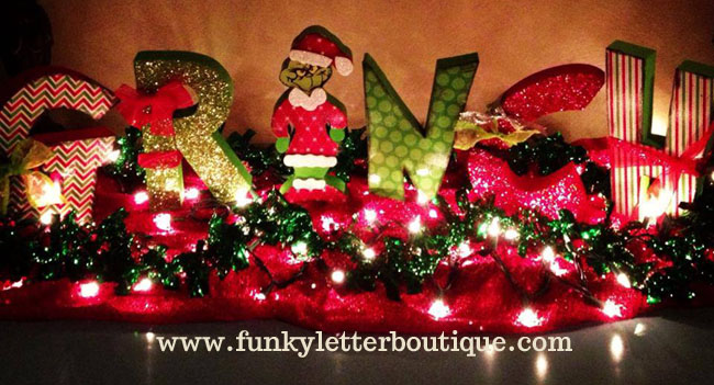 The Grinch Christmas Wooden Letter Set