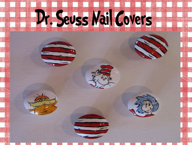 Dr. Seuss Hand Painted Decorative Art Nail Covers