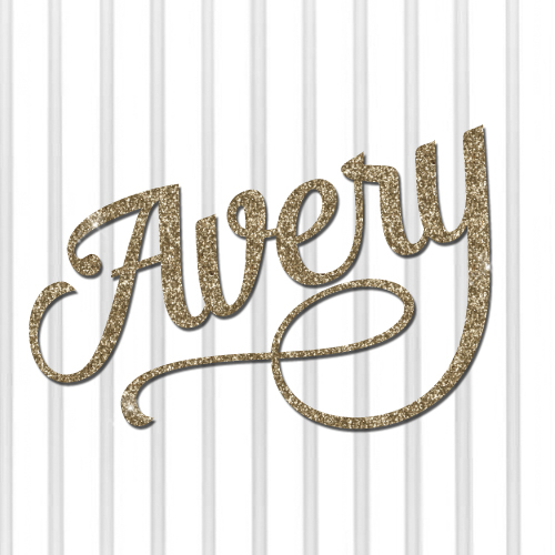 lily flourish glitter script connected name sign