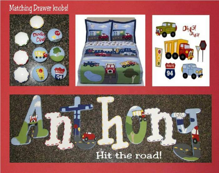 Hit The Road Hand Painted Wall Letters