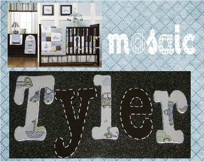 Mosaic Transport Painted Nursery Letters