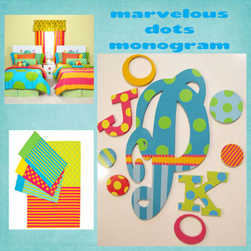 Colorful and Playful Children's Wall Monogram