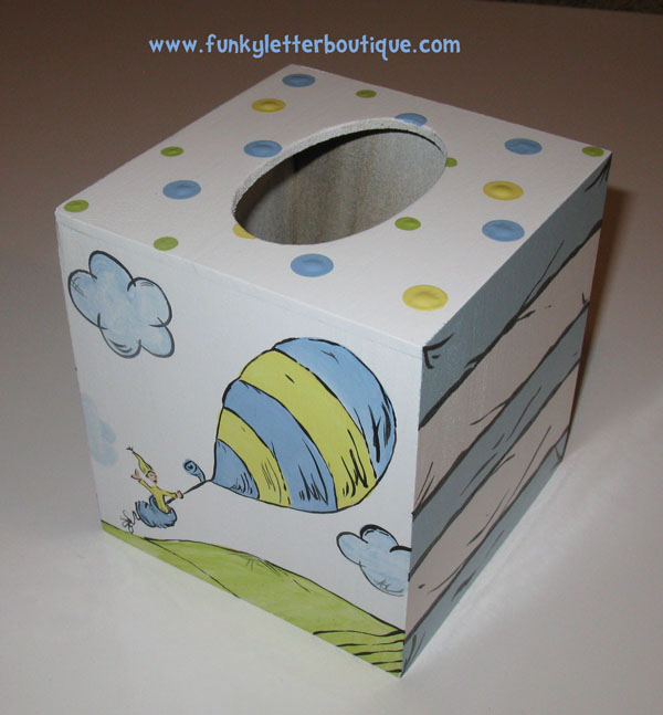 Dr. Seuss Oh the places you'll go tissue box cover