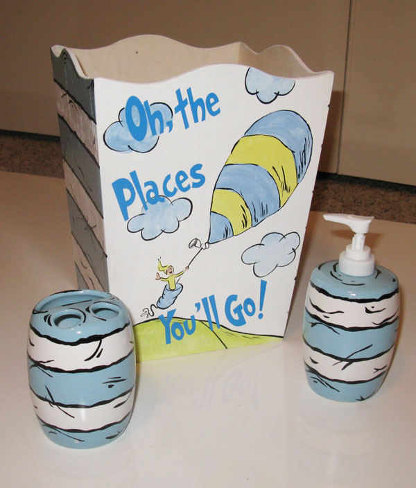 Dr. Seuss Oh The Places You'll Go Kids Bathroom Set