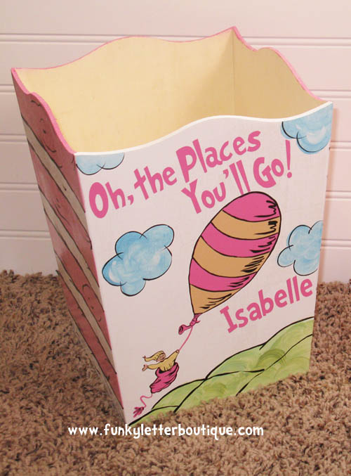 Dr. Seuss Oh The Places You'll Go Wastebasket