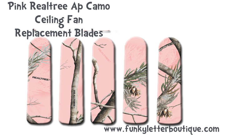 Pink Realtree AP Camo Ceiling Fan Blades