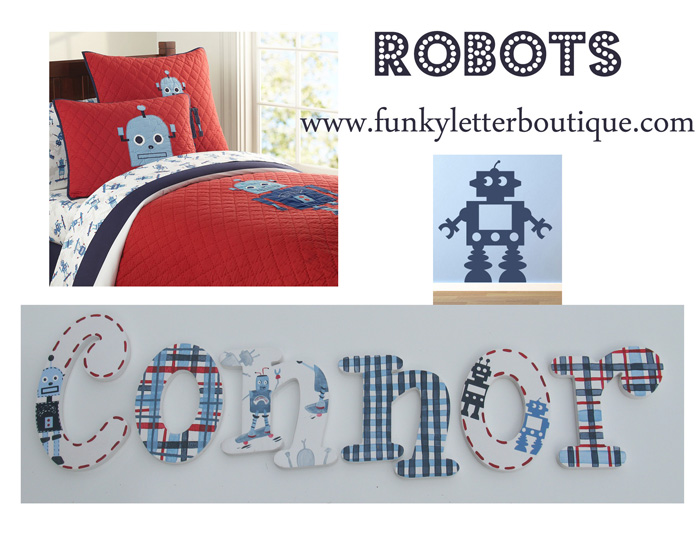 Robot Themed Wall Letters