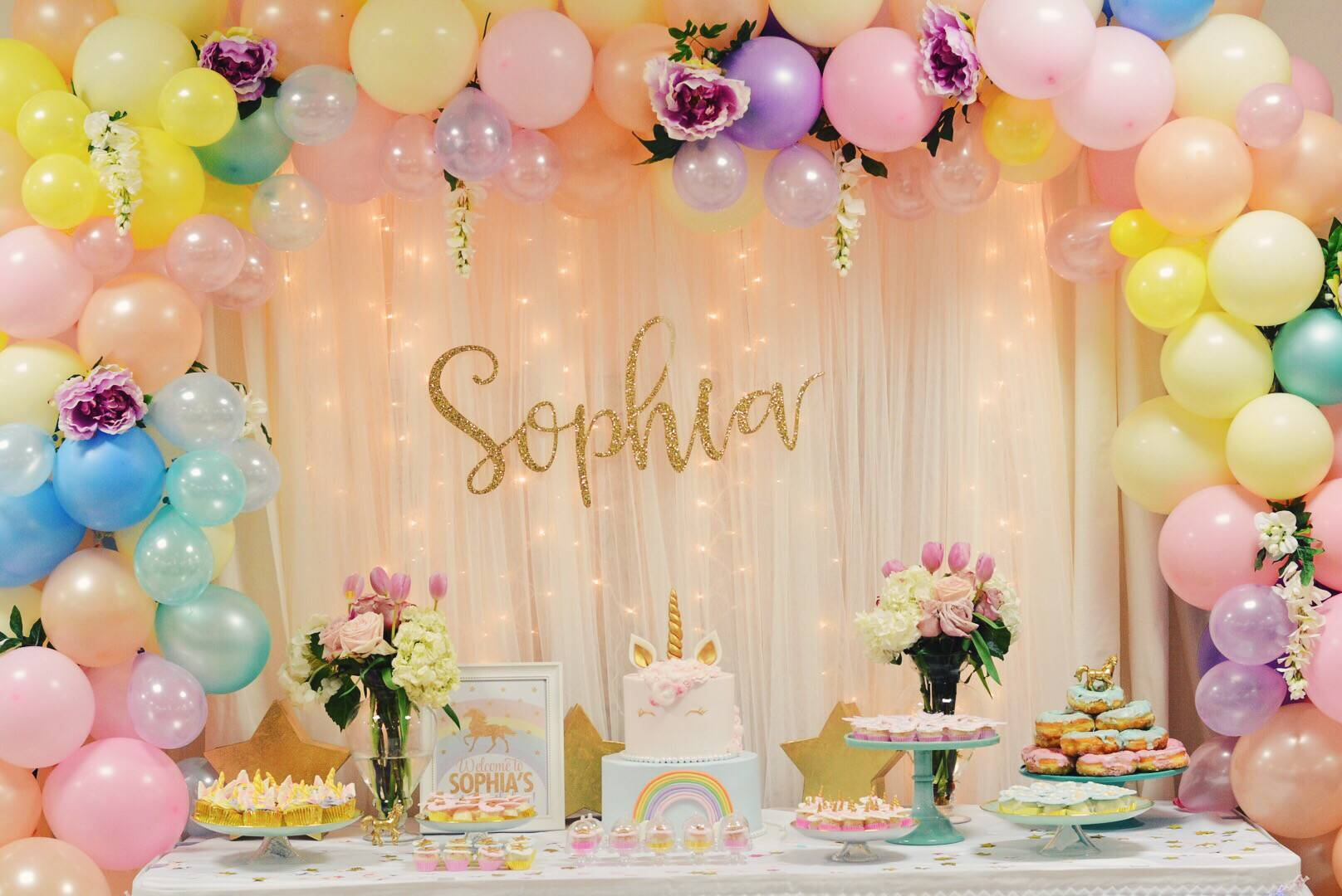 Unicorn birthday party inspo