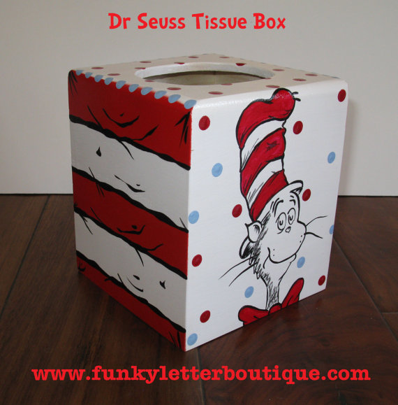 Dr. Seuss Cat in the Hat Tissue Box Cover