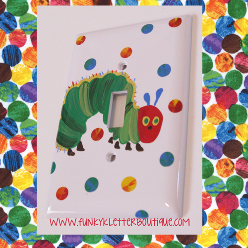 The Very Hungry Caterpillar Single Light Switch Plate