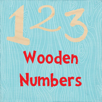 Unpainted Unfinished Numbers DIY